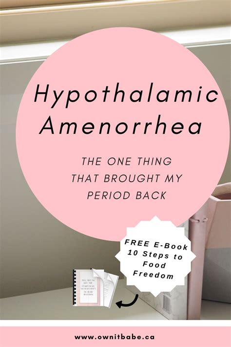 Hypothalamic Amenorrhea – The one trick that brought my