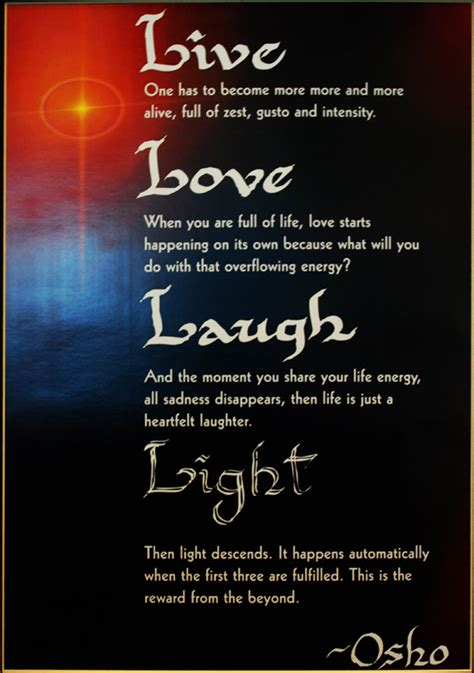Osho's Mantra: Life, Love, Laughter   Osho News