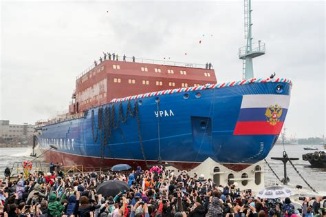 Russia Launches Nuclear Icebreaker as It Eyes Arctic