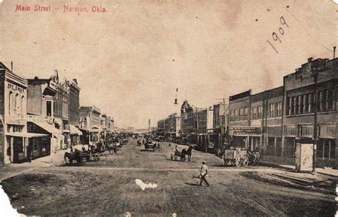 Downtown Norman, Oklahoma 1909 (looking east of tracks