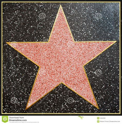 Hollywood Star Framed Stock Photography - Image: 3494332